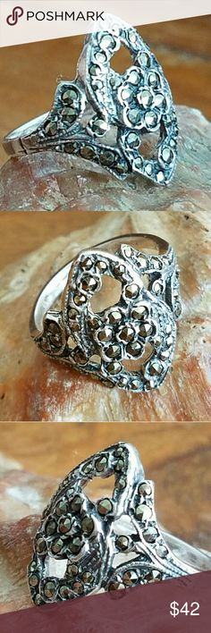 Selling this *SALE* Vintage Victorian Style Marcasite Ring on Poshmark! My username is: annbrits_closet. #shopmycloset #poshmark #fashion #shopping #style #forsale #Jewelry