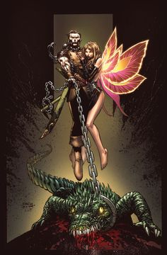 grimm fairy tales presents neverland 1 cover by david finch