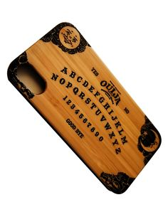 Ouija Board laser engraved bamboo wood iPhone case. Are you brave enough to give it a try?