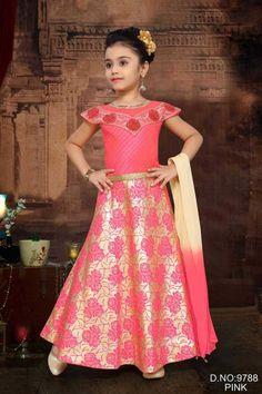 Little Girl Gowns, Gowns For Girls, Girls Dresses, Flower Girl Dresses, Lehenga Style, Lehenga Choli, Sarees, Kids Party Wear Dresses, Kids Frocks Design