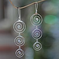 Discover unique handcrafted treasures. Every purchase will help UNICEF save and improve children's lives and help support talented artisans. Sterling silver chandelier earrings, 'Tropical Storm'