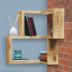 How great are these corner shelves - easy DIY idea