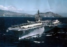 """CV 64-USS Constellation {aka the """"Connie"""" to Daniel. His final convoy to the Middle East, on the U.S.S, Chung Hoon}"""