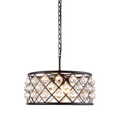 Buy the Elegant Lighting Mocha Brown Direct. Shop for the Elegant Lighting Mocha Brown Madison 5 Light Crystal Drum Chandelier and save. Black Chandelier, Drum Chandelier, Chandeliers, Drum Pendant, Pendant Lighting, Light Pendant, Royce, Mocha Brown, Clear Crystal
