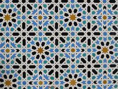 Majestic Islamic tile work in the Alcazar in Sevilla