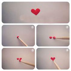 i heart you manicure