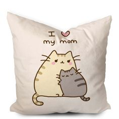 Pusheen Mothers Gift I Love Mom Pillowcase  https://www.artbetinas.com/collections/square-pillow-case/products/pusheen-mothers-gift-i-love-mom-square-pillow-cover-pillow-case-cushions-pillow-cover-home-decor-pillow-bed-pillow-bedding-housewares