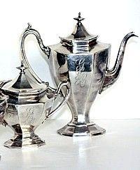Vintage Reed Barton Art Deco Silverplate Coffee Tea Service Set