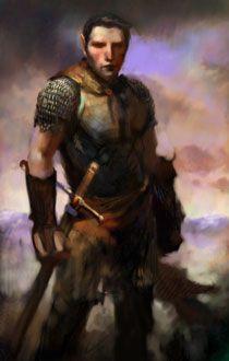 via PlanetBaldursGate - human warrior fantasy portrait