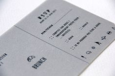 Wedding Invitation I&O - RSVP - Ticket plane  by Allons-y Alonso - design d'invitations & fun !