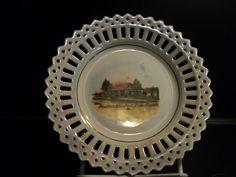 Souvenir Pin Dish Pavilion Ellis Park Cedar Rapids Iowa Vintage