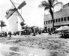 People on the beach at the Roman Pools Bathing Casino in Miami Beach! (ca. 1920) | Florida Memory