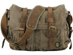 Cheap bag pet, Buy Quality bag wing directly from China bag pieces Suppliers: Fashion New 2015 military canvas Leather Men Messenger bag Canvas shoulder bag for men Crossbody Bag Casual Bag Sling Canvas Laptop Bag, Canvas Messenger Bag, Canvas Backpack, Laptop Bags, Military Messenger Bag, Bike Messenger, Snap Bag, Military Fashion, Military Style