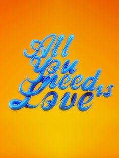 All you need is love by Xavier García, via Behance