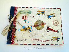 Ευχολόγιο με θέμα τα αεροπλάνα by Sugar & Pearls Sugar, Pearls, Beads, Pearl, Pearl Beads, Gemstones