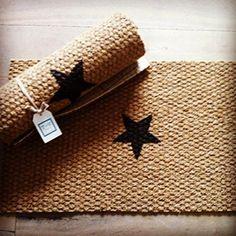 Twenty Violets Fußmatte aus Kokos, Stern, natur/schwarz
