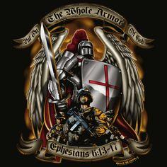 full armor of god tattoo | Armor of God Black T-shirt