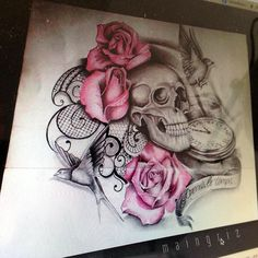 We are drawing your Tattoo ! From a simple idea, we create your drawing from A to Z Unique design * unlimited changes * everywhere in the world Dope Tattoos, Skull Tattoos, Body Art Tattoos, I Tattoo, Sleeve Tattoos, Tattoo Sleeves, Floral Tattoo Design, Tattoo Designs, Tattoo Ideas