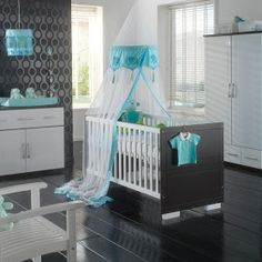 Recamaras para beb s on pinterest bebe nurseries and - Chambre bebe turquoise et gris ...