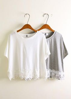 Image via We Heart It https://weheartit.com/entry/106849201 #baggy #clothes #cool #cute #fashion #girl #grey #lace #tops #white
