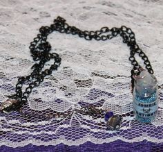 Zombie Antidote Glass Vial Pendant Necklace by musicissanity, $9.99