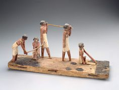Model of men making bricksMiddle Kingdom, late Dynasty 11 – early Dynasty 12 (2010–1961 B.C.) Found in the tomb of Djehutynakht at Deir el-Bersha, Egypt, May 1915; excavated by the Harvard University...