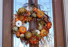 Fall doors - Love the squash thing