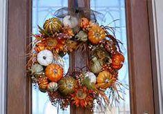Fall doors - Love the squash thing