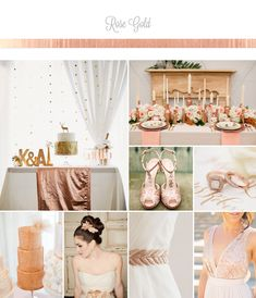 Rose Gold Wedding Palette Inspiration