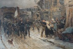Entrance Into Belfort of the German Commander Bearing the Flag of Truce 4thNovember 1870