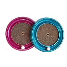 The Turbo Scratcher cat toy offers hours of fun and exercise for your cat while reducing potential furniture damage due to scratching. Catnip and ball included. Scratch pad is replaceable. 16 inches d