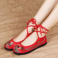 Cross-Strap Embroidered Flats  from #YesStyle <3 Eastwalk YesStyle.com
