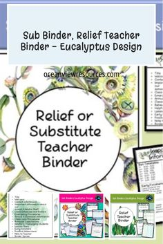 If you want your class to stay on track while you are away, then this set of binder sheets will help to pass on information to the Emergency teacher who is going to be taking your class for the day. It is vital that this information is shared with them so that both teacher and students have a positive and flowing day.