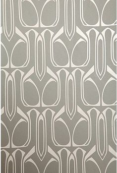 Urban Outfitters Gio Wall Paper - Plum and Silver