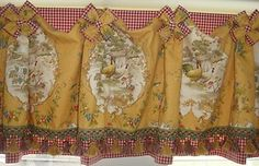 Professionally Made Valance in Country Fair from P Kaufmann Mix w Pierre Deux   eBay