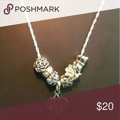 """""""MOM"""" Charms On Sterling Silver Necklace Last minute Mother's Day gift! Quick pick up in Ruskin! Will ship for free, but can't be promised by Sunday. Jewelry Necklaces"""
