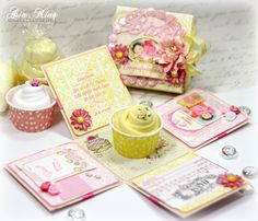 Under a creative spell: It's a Girl! - An Exploding Box For Scrapbook Adhesives by 3L