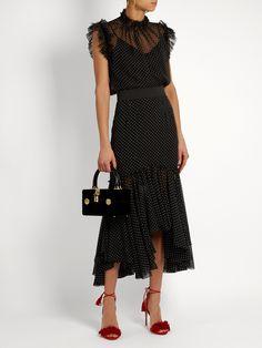 Polka-dot print silk-georgette top | Dolce & Gabbana | MATCHESFASHION.COM