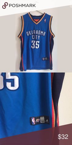 cb08c5d1d38 Adidas NBA Basketball 53 OKC Durant 35 Jersey Adidas NBA Authentics  Basketball Men's 53 OKC Durant 35 Jersey. Size Length armpit to armpit adidas  Shirts