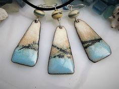 Enamel Jewelry Pendant Ocean Blue