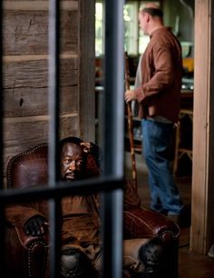 "The Walking Dead Season 6 Episode 4 ""Here's Not Here"" Morgan and Eastman"