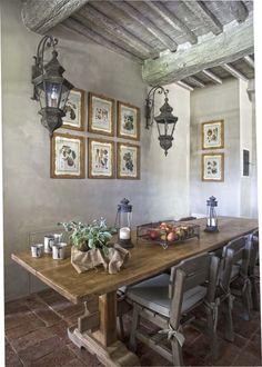 Tuscan design – Mediterranean Home Decor French Country Dining, French Country Style, Country Chic, Tuscan Design, Tuscan Style, Tuscan Decorating, French Country Decorating, Provence Style, Tuscan House