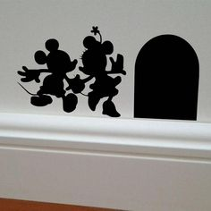 This is a wonderful addition to any childs room. Minnie Mouse & Mickey Mouse wall decal. Makes a perfect gift for any Disney lover. This decal is great for your vehicle, laptop or wall! This decal is cut from Oracal 651 vinyl and has been graded to withstand the outdoor elements for 6+ years. 651 decals are removable, but not re-usable. Length size is for both the Minnie & Mickey, and mouse hole together. Please be aware that vinyl decals will not stick on all surfaces. Vinyl decals will ...
