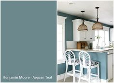 Image result for Teal gray paint for kitchen