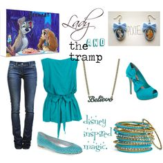 Lady and the Tramp, created by junelovesward on Polyvore