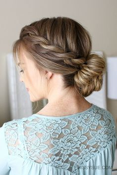 Rope Braid Low Bun Hairstyle #hair #hairstyles #hairtips | hairstyles | | hairstyle tutorials | http://caroortiz.com