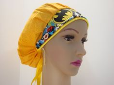 Elegant Handmade-Bouffant Cap-Medical Scrub-Woman-100% Cotton .  This style has-been designed for Individuals That the hair like to keep
