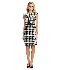 Antonio Melani Theda Geometric Jacquard Sheath Dress #Dillards