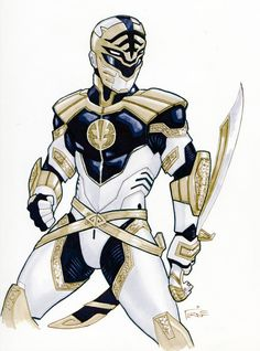 """Hey guys! Here is my next piece of the """"Power Rangers"""" series I'm doing for """"Acme Archives Ltd."""" and""""SABAN"""".The awesome White Ranger! I had a blast painting this guy,H..."""