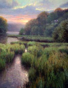 Chesapeake-Evening ~~ Michael Godfrey - American artist born in Germany 1958